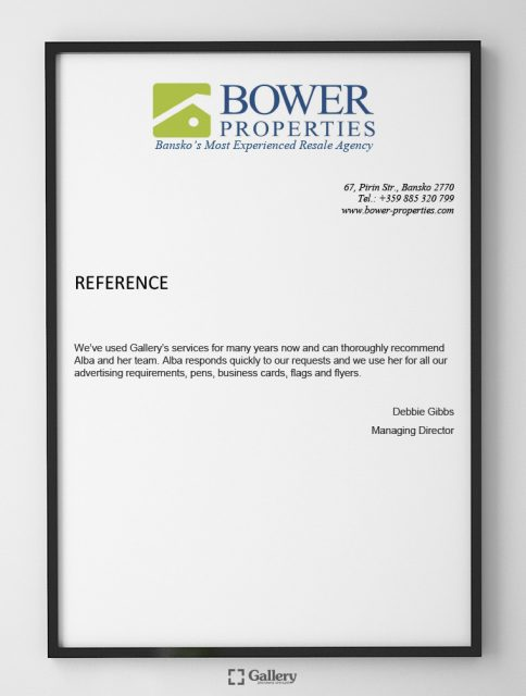 Препоръка от BOWER Properties
